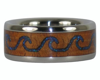 Surfers Wave Ring Wedding Band