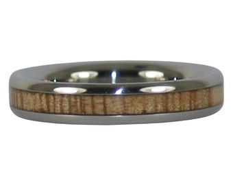 Mango Wood Stack Titanium Rings