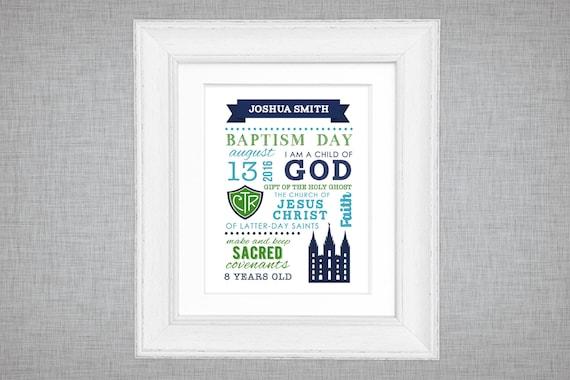 Bautismo LDS para imprimir pantalla de regalo de bautismo de | Etsy
