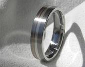 Titanium Copper Silver Ring - Wedding Band