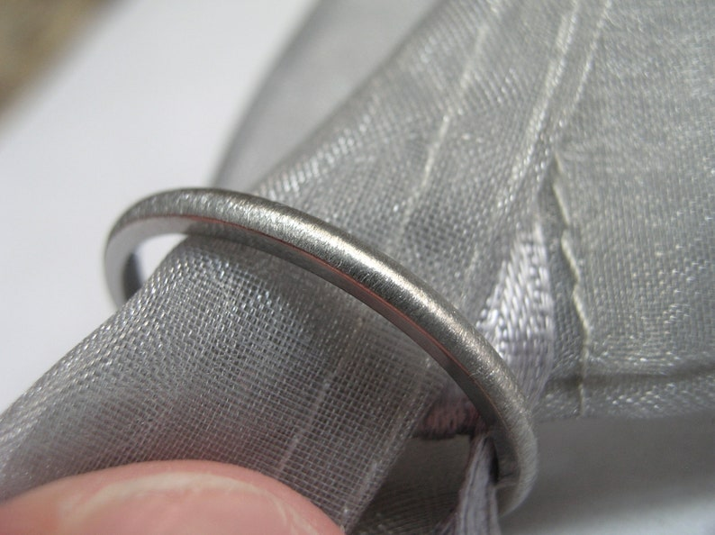 US size 6.75 Petite Ring Titanium Clearance Ladies Wedding Band 2mm