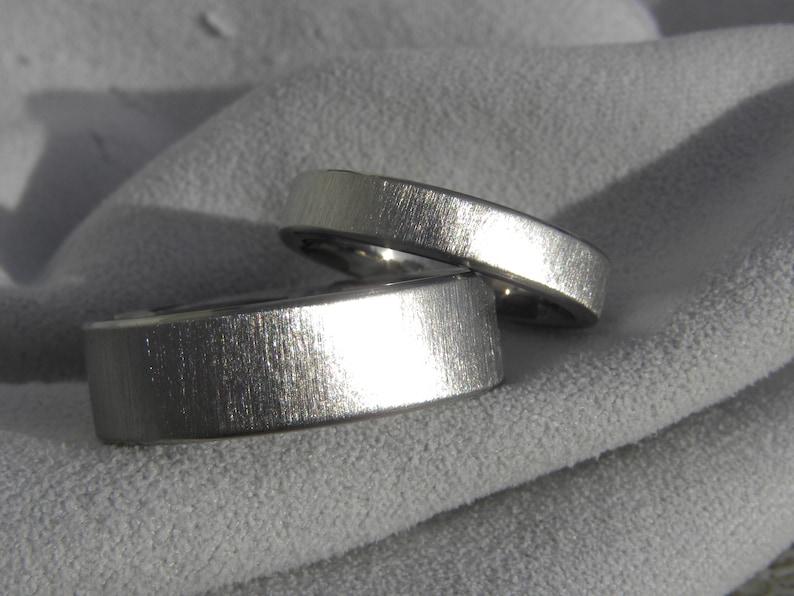 Titanium Ring SET Matching Wedding Bands Wedding Bands Wedding Rings Frost Finish