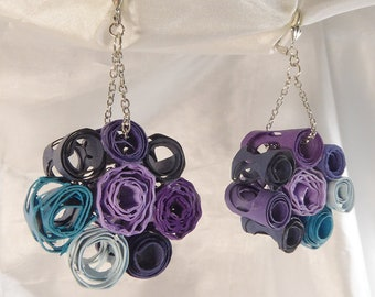 Rolled paper earrings by beccasblend