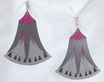 Paper earrings digitally cut by beccasblend