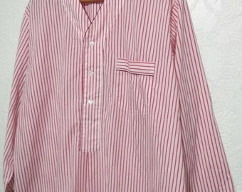 Vtg 1950s 60s NEW NOS Pink Yellow Striped Summer Pajamas Set Sz 40 All Cotton