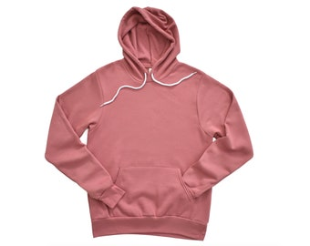Bella + Canvas, 3719, Mauve, Blank Hoodie, Adult Unisex Hooded Sweatshirt, Sponge Fleece Pullover, DIY Blanks, Men's, Women's