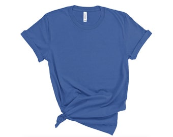 Bella + Canvas, 3001, Columbia Blue, DIY Blank Shirts, Plain Adult Unisex T-shirts, Men's, Women's, DIY Blanks Supplies