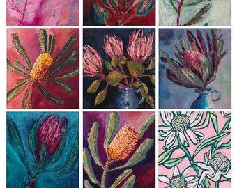 Native Botanical Floral Tags Instant Digital Download Set of 12 gift tags, journalling, craft projects, junk journal, digital scrapbooking