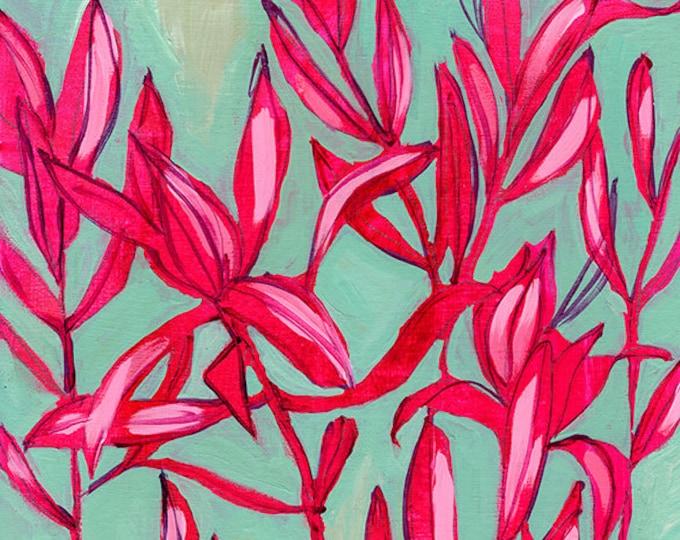 Everything Dances Painting Wall Art Print Botanical Home Decor
