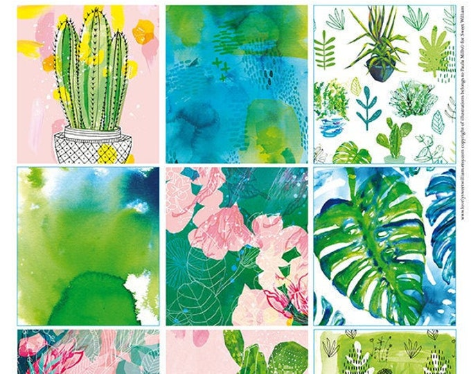 Green Plant Tags, Instant Digital Download, Set of 12  illustrative tags, scrapbook, junk journal, digital collage