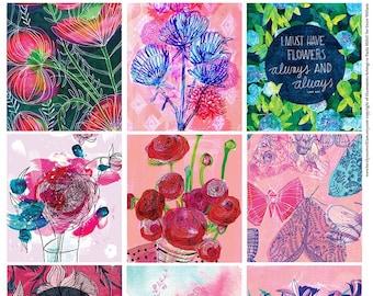 Beautiful Floral 12 set Tags Instant digital download, digital scrapbooking, junk journal, printable collage, printable paper craft