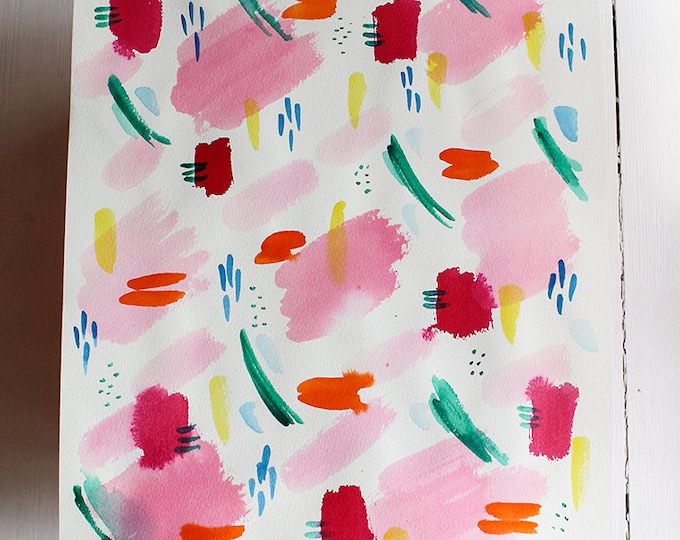 Original watercolor painting Watercolor Patterns 2 by Paula Mills abstract watercolour original wall art