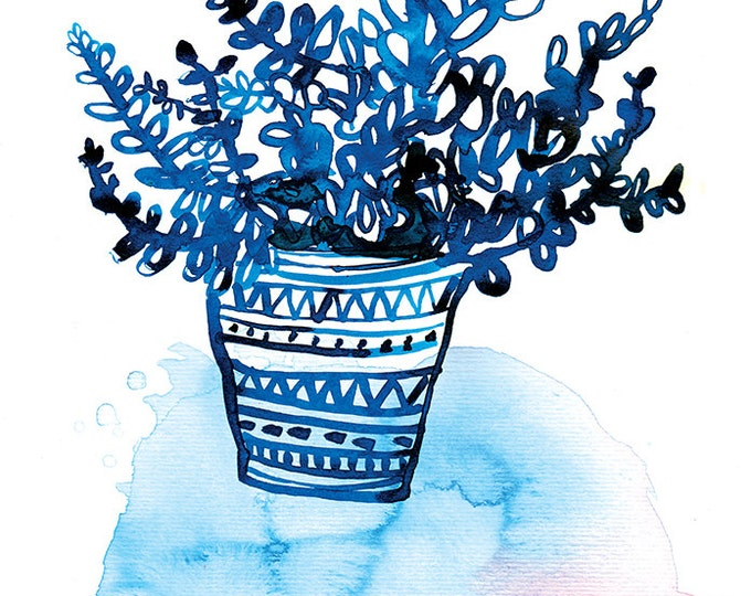 BluePot Unframed Wall Art Print Botanical