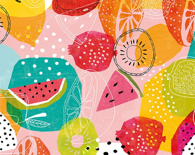 Instant Download Summertime Art Print brightly coloured summer fruit pattern