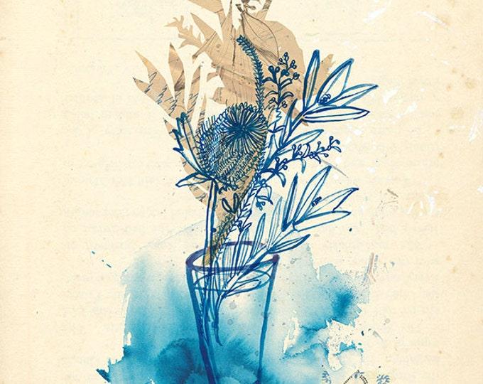 SALE Voice of Nature no.1 Wall Art Print botanical