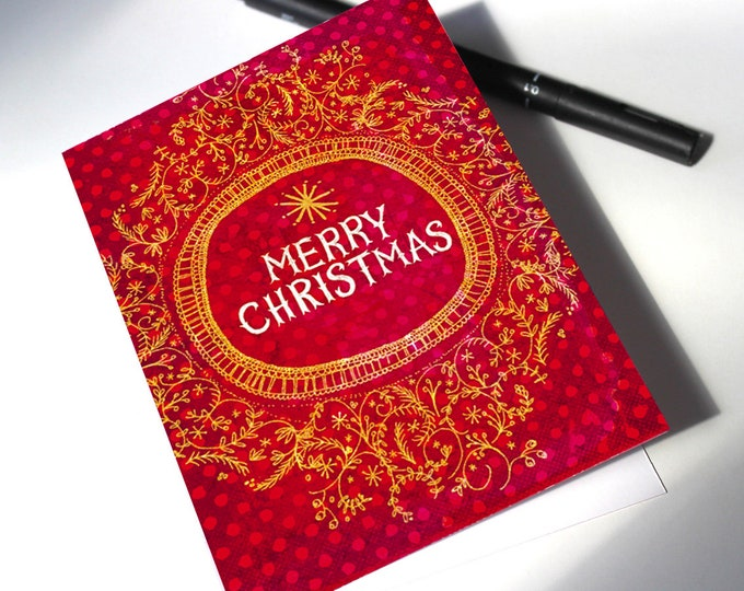 Instant Download Christmas Card Merry Christmas printable digital download