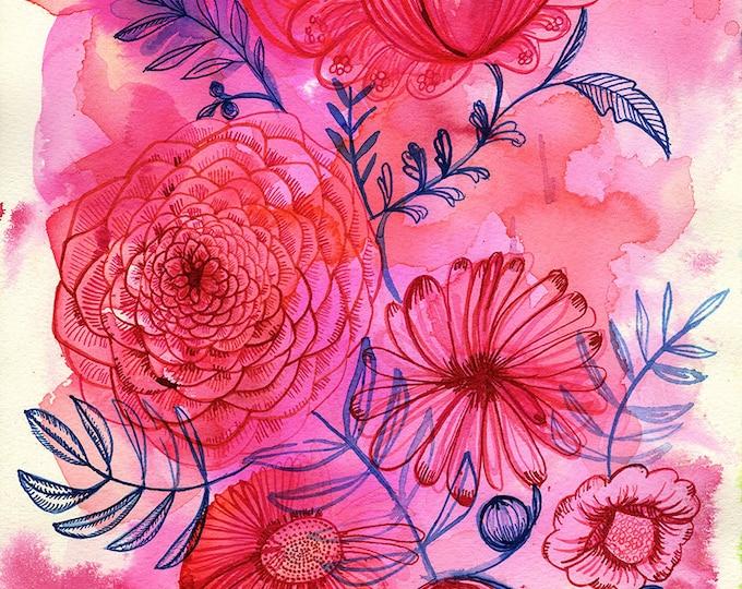 Floral Forms No.2 Wall Art Print botanical illustration Botanical Wall Art
