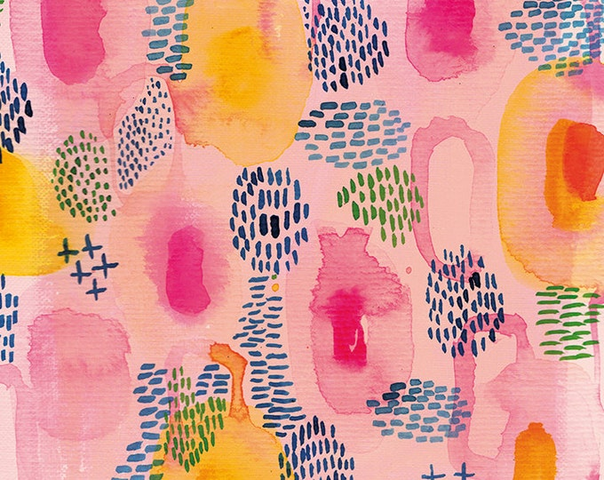 Watercolor Patterns in Pink - wall art print decor