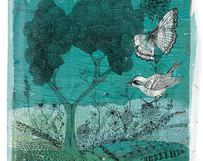Wilderness - Digital Download Paula Mills Illustration Printable Wall Art decor