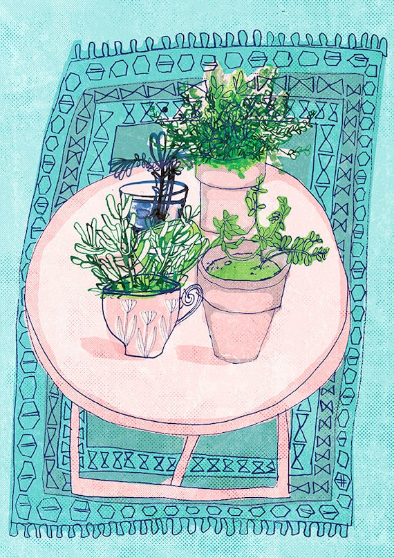 Pink Table Top Archival Wall Art Print