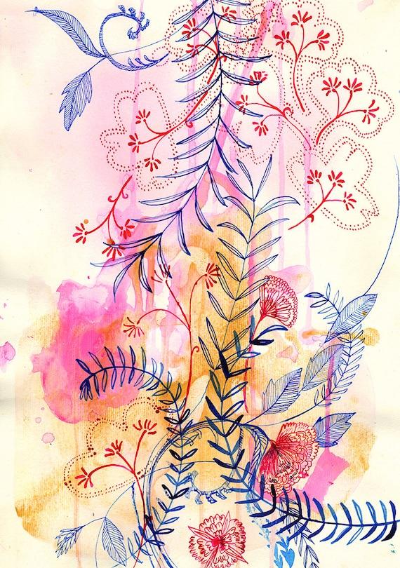 Floral Forms No.1 Wall Art Print botanical illustration