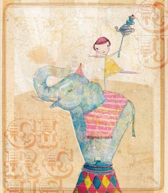 Join the circus Wall art print Sweet William illustration kids