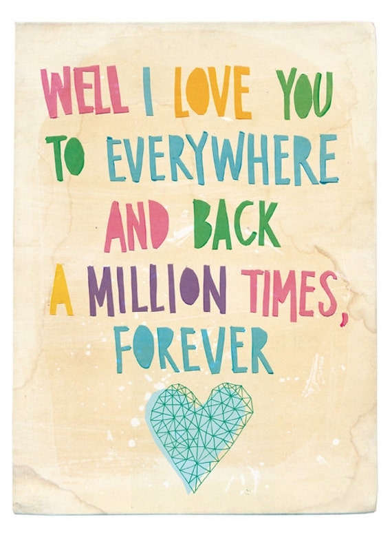 Everywhere and Back archival Wall art print KIDS DECOR