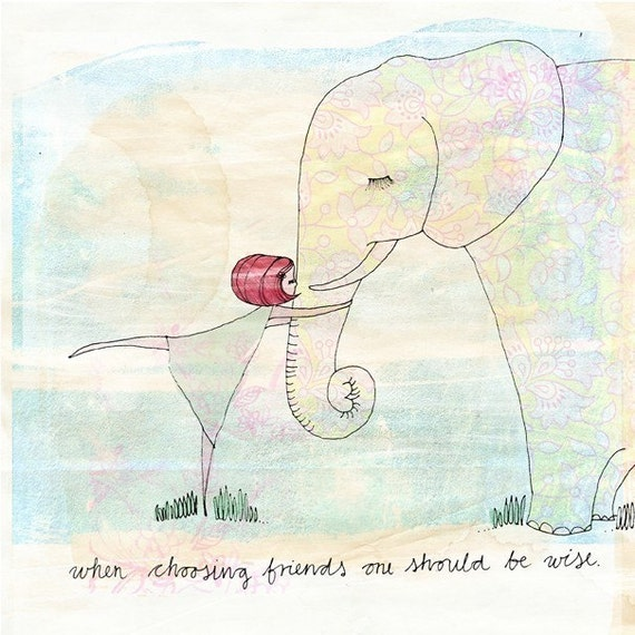 Be Wise -  archival wall art print kids decor illustration