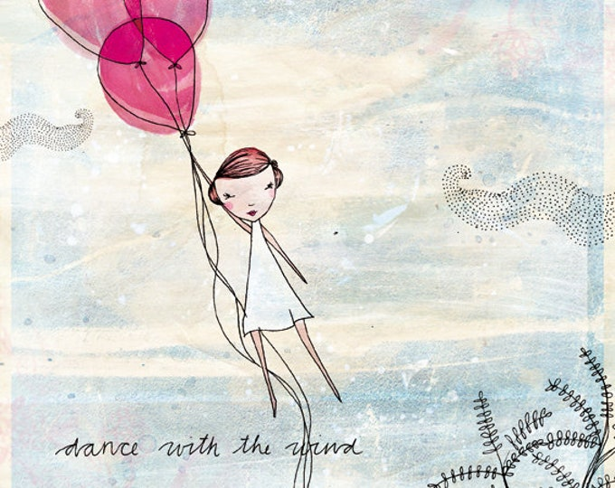 Dance With The Wind Wall DIY instant digital download Wall Art Print kids decor print at home