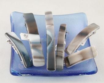 Neutral Barrette - Tan - Beige - Grey - Glass barrette - small - medium - large (5613-5614-5689-5691)