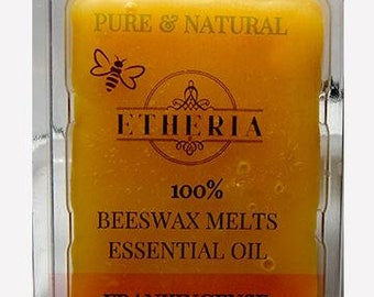 Etheria Frankincense Essential Oil in 100% Beeswax Melts, tarts, aromatherapy wax melts, Pure and Natural, EO