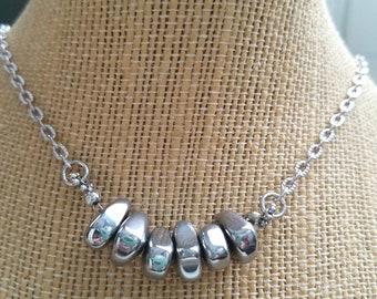 Hematite Courage Necklace