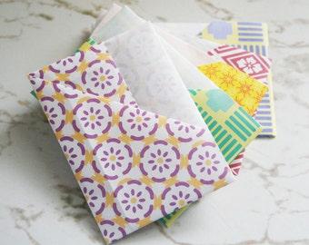 Origami gift card/money envelopes (set of 5)