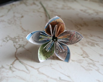Map flowers - Set of 6 map flowers