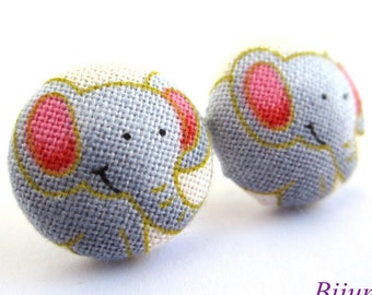 Elephant earrings - Blue elephant earrings - Elephant studs - Elephant stud earrings - Elephant posts - Elephant post earrings sf807