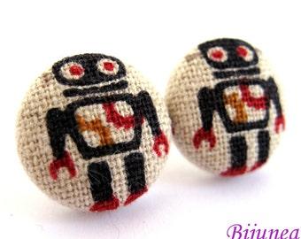Robot earrings - Robot stud earrings - Robot studs - Robot post earrings - Robot posts sf1009