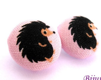 Hedgehog earrings - Pink Hedgehog stud earrings - Hedgehog studs - Pink hedgehog posts - Hedgehog post earrings sf498