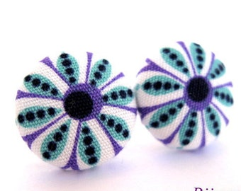 Indian earrings - Purple indian earrings - Indian stud earrings - Indian studs - Indian posts - Indian post earrings sf710