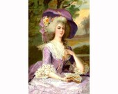 Lovely Marie Antoinette Reproduction Fabric Crazy Quilt Block Free Shipping World Wide (M51