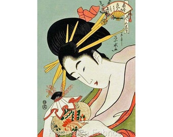 Geisha Girl Tea Quilt Block Multi Sizes FrEE ShiPPinG WoRld WiDE G11
