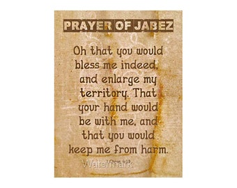 picture relating to Prayer of Jabez Printable referred to as Prayer of jabez Etsy