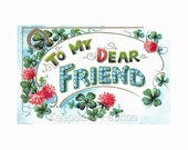 To My Dear Friend Flowers Reproduction Fabric Crazy Quilt Block Free Shipping World Wide (V9