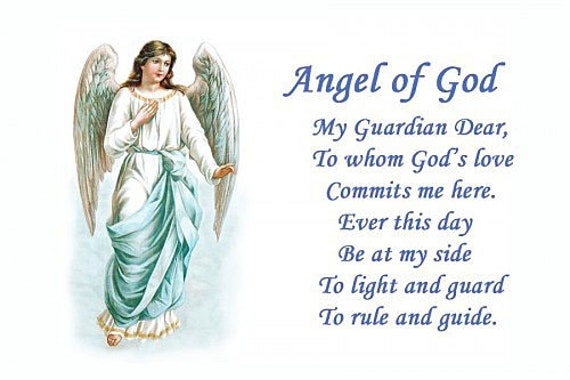 Guardian Angel Of God Prayer Refrigerator Magnet Free Ship Usa Etsy