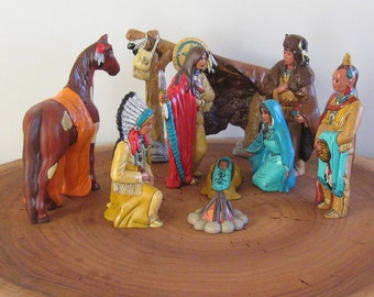 10 pc Large Indian Nativity Set # Ki2737s