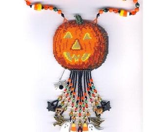 Halloween Pumpkin Necklace