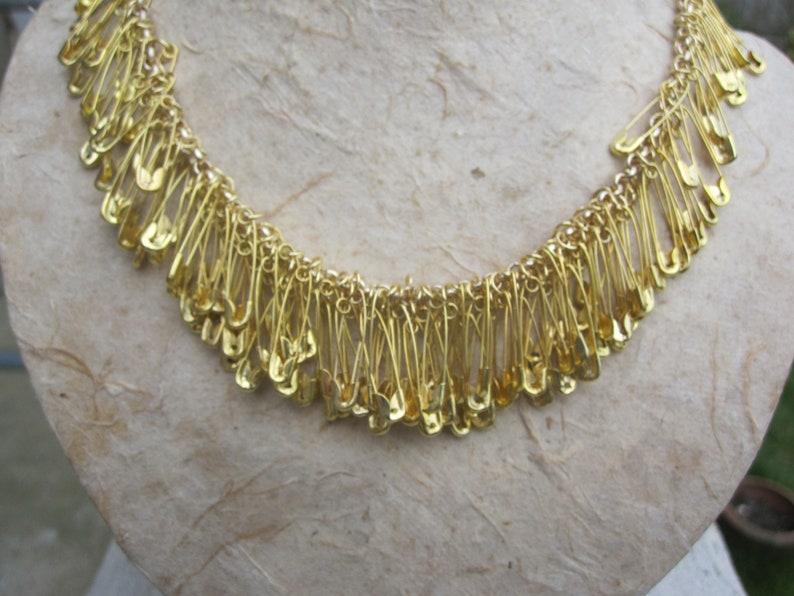 Sicherheit Pin Charm Halskette Gold Sicherheit Pin Schmuck