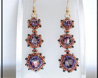 Amely. Earring. BEADED TUTORIAL