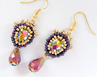 Queen Victoria. Earrings. Beaded Tutorial