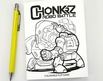 CHONKRZ - ROBO BATTLE (colorable flip game)