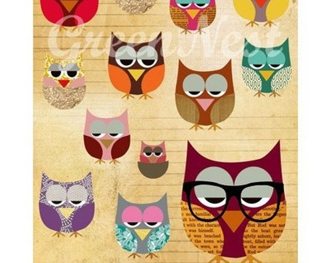 Be different-nerd Owl poster